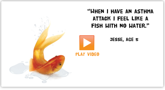 When I have an asthma attack I feel like a fish our of water. Click to play video