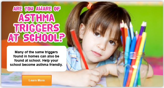 Are you aware of asthma triggers in your school? Click to learn more